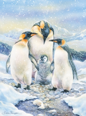 Penguin Family - 500pc Jigsaw by Pastime Puzzles