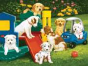 Puppy Playground - 300pc EZ Grip Jigsaw Puzzle by Masterpieces