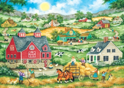 Jigsaw Puzzles - Bringing in the Hay