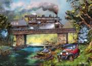 Rails on Dogwood - 1000pc Jigsaw Puzzle by Masterpieces