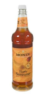 Monin Honey Sweetener - 1 Liter Plastic Bottle