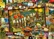 California - 1000pc Suitcase Jigsaw Puzzle by Masterpieces