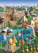 38 Wonders of the World - 1000pc Suitcase Jigsaw Puzzle by Masterpieces