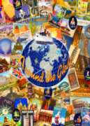 Around the World - 1000pc Suitcase Jigsaw Puzzle by Masterpieces