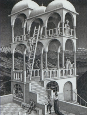 Escher's Belvedere - 1000pc Jigsaw Puzzle By Buffalo Games