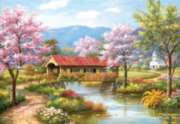 Covered Bridge in Spring - 2000pc Jigsaw Puzzle By Sunsout