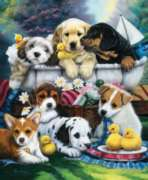 Bath Time Pups - 1000pc Jigsaw Puzzle By Sunsout