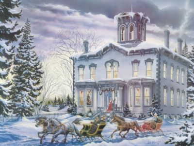 Christmas at Kilbride - 275pc Large Format Jigsaw Puzzle By Cobble Hill