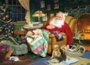 Santa's Nap Time - 275pc Large Format Jigsaw Puzzle By Cobble Hill