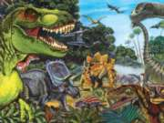Dinosaur Land - 400pc Family Style Jigsaw Puzzle For Kids By Cobble Hill