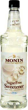 Monin Sugar Free Sweetener - 1 Liter Plastic Bottle
