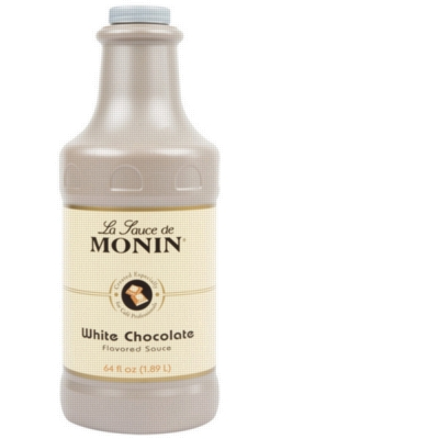 Monin Gourmet White Chocolate Sauce - 64 oz. Bottle