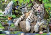 Bengal White Tigers - 1000pc Jigsaw Puzzle By Educa