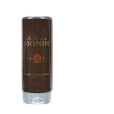 Monin Gourmet Dark Chocolate Sauce - 12 oz. Squeeze Bottle