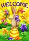 Welcome Bunny - Garden Flag by Toland