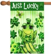 Just Lucky - Standard Flag by Toland