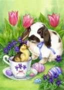 Easter Friends - Garden Flag by Toland
