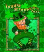 Happy Leprechaun - Standard Flag by Toland