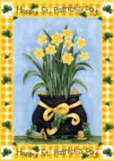 Lucky Daffodils - Garden Flag by Toland