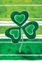 Shamrock Stripes - Garden Flag by Toland