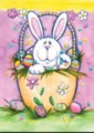 Bunny in a Basket - Garden Flag by Toland