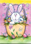 Bunny in a Basket - Standard Flag by Toland