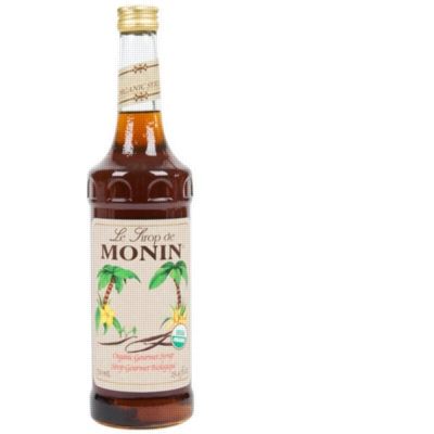 Monin Organic Flavor Syrup - 750 ml. Glass Bottle