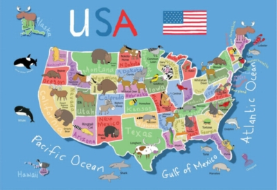 Floor Jigsaw Puzzles For Kids - USA Map