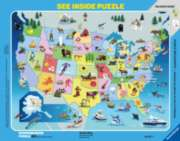 State Map - 63pc See Inside Frame Puzzle by Ravensburger