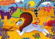 Jigsaw Puzzles for Kids - Tinga Tinga Tales� - Go Lion Go!