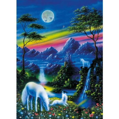 Moonlight Unicorns - 200pc Jigsaw Puzzle by Ravensburger
