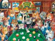Pool Hall Cats - 500pc Jigsaw Puzzle By Ravensburger