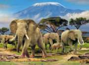 Elephants - 500pc Jigsaw Puzzle By Ravensburger