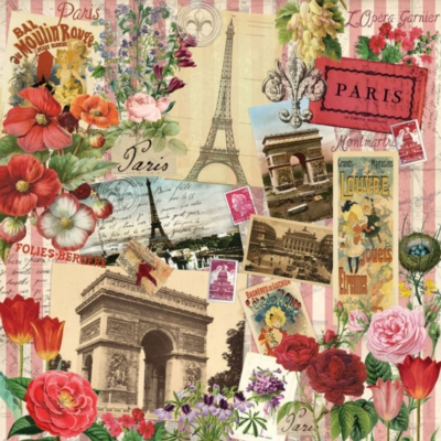 Paris in Spring - 500pc Square Jigsaw Puzzle By Ravensburger