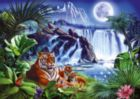 Tiger Waterfall - 1000pc Glow-in-the-Dark Jigsaw Puzzle By Ravensburger