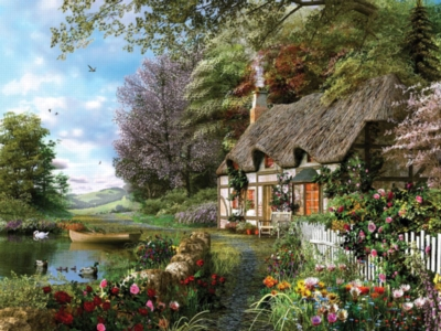 Country Cottage - 1500pc Jigsaw Puzzle by Ravensburger