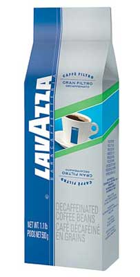 Lavazza Gran Filtro Decaf - 1.1 lb. Whole Bean Coffee Bag