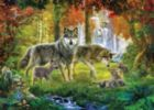 Summer Wolves - 1000pc Jigsaw Puzzle by Ravensburger