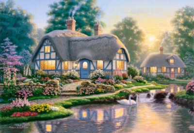 Great Cottage Walkway - 1000pc Jigsaw Puzzle by Castorland