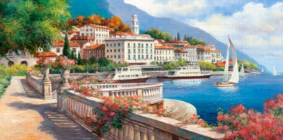 Hard Jigsaw Puzzles - Idyllic Landscape of Lake Como