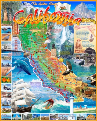 California - 1000pc Jigsaw Puzzle By White Mountain