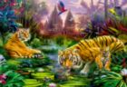 Tigers at the Ancient Stream - 500pc Jigsaw Puzzle By Educa