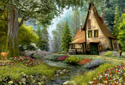 Toadstool Cottage - 6000pc Jigsaw Puzzle By Educa