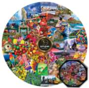 50th Year Anniversary Commemorative - 500pc Round Jigsaw Puzzle by Springbok