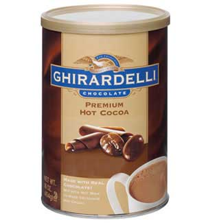 Ghirardelli Premium Hot Cocoa - 1 lb. Can Assorted Case