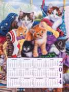 Jigsaw Puzzles - Loads of Kittens 2014 Calendar