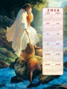 I Am Here, Be Not Afraid 2014 Calendar - 500pc Jigsaw Puzzle By Sunsout