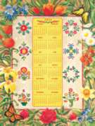 Flower Album 2014 Calendar - 500pc Jigsaw Puzzle By Sunsout