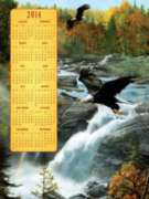 Jigsaw Puzzles - Waterfall Flight 2014 Calendar