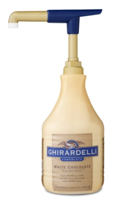 Ghirardelli Classic White Chocolate Sauce - 64 oz. Bottle